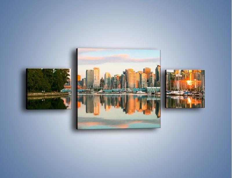 Obraz na płótnie – Widok na Vancouver – trzyczęściowy AM765W4