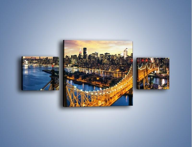 Obraz na płótnie – Queensboro Bridge w Nowym Yorku – trzyczęściowy AM768W4