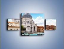 Obraz na płótnie – Bazylika Santa Maria della Salute w Wenecji – trzyczęściowy AM775W4