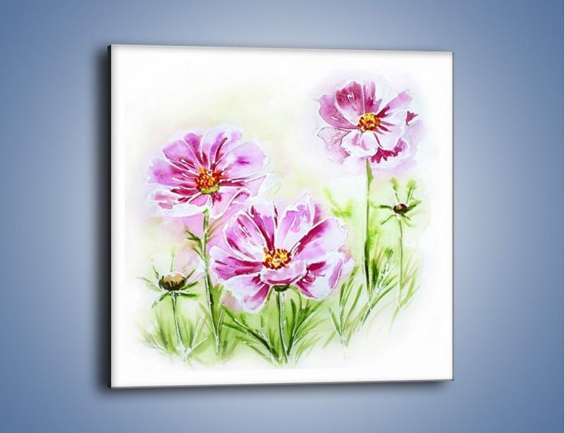 Obraz na płótnie – Małe kwiatki na trawce – jednoczęściowy kwadratowy GR559