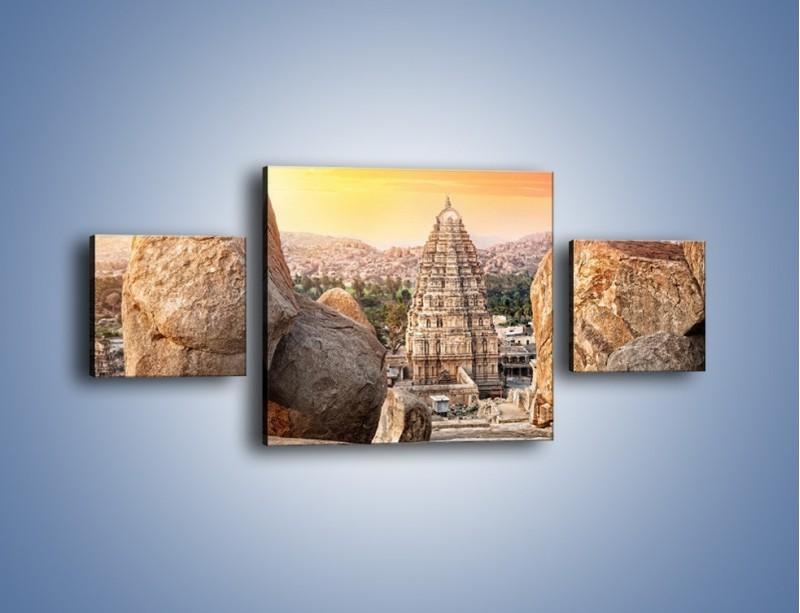 Obraz na płótnie – Świątynia Virupaksha w Indiach – trzyczęściowy AM787W4
