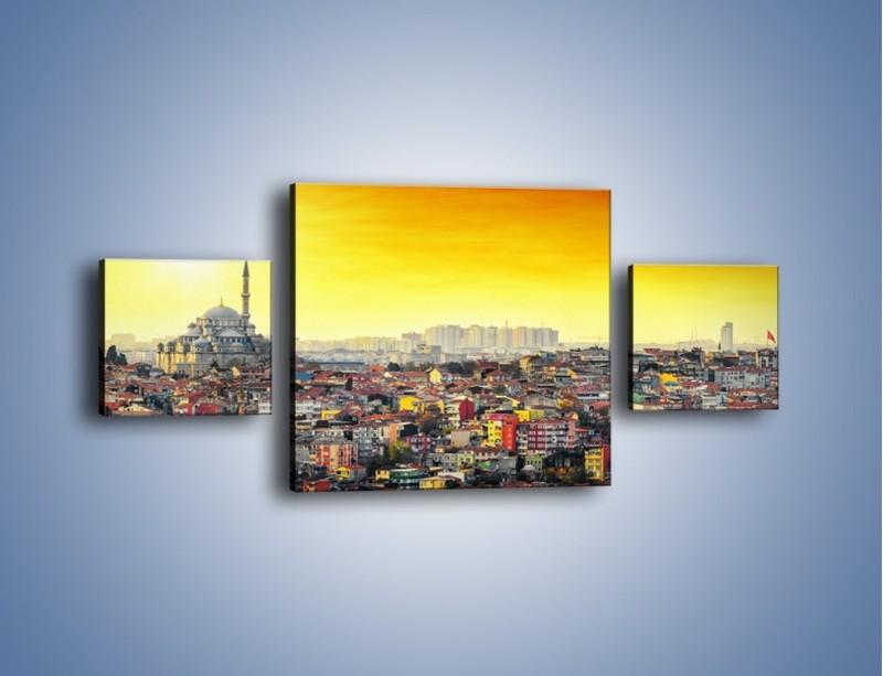 Obraz na płótnie – Zachód słońca nad Stambułem – trzyczęściowy AM788W4