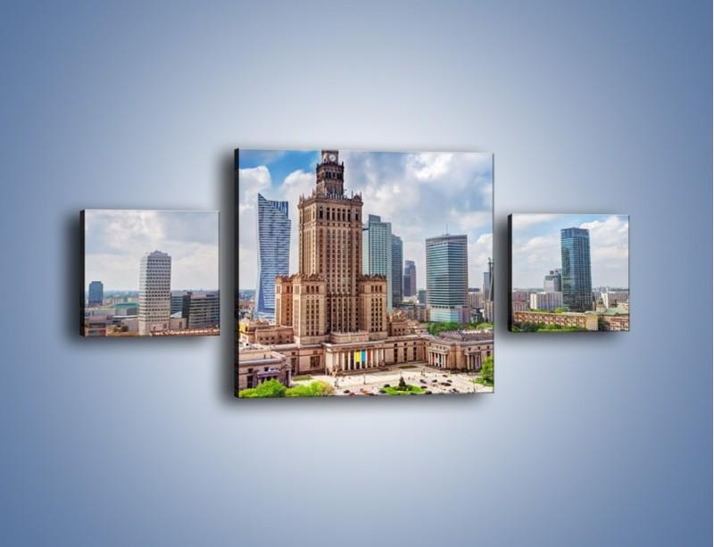 Obraz na płótnie – Pałac Kultury i Nauki w Warszawie – trzyczęściowy AM806W4