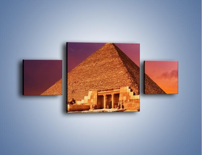 Obraz na płótnie – Piramida w Egipcie – trzyczęściowy AM812W4