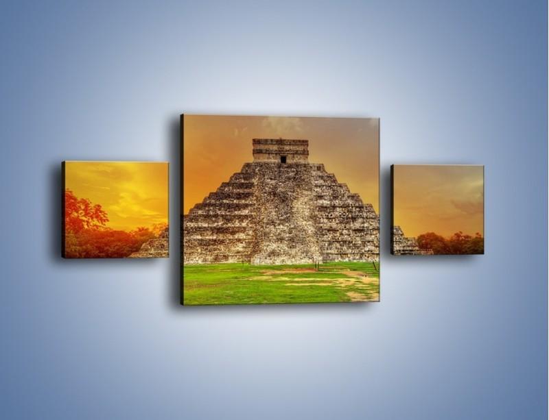 Obraz na płótnie – Piramida Kukulkana w Meksyku – trzyczęściowy AM814W4