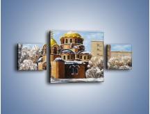Obraz na płótnie – Cerkiew w trakcie zimy – trzyczęściowy GR024W4