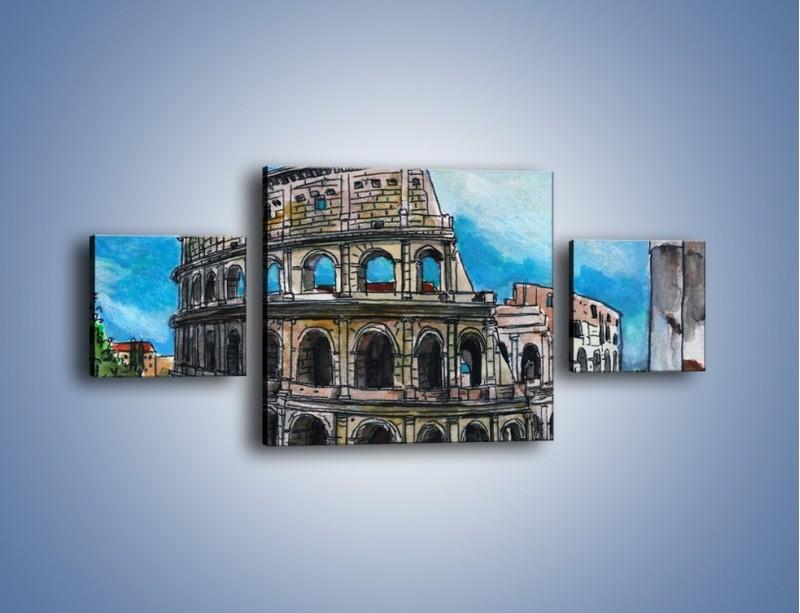 Obraz na płótnie – Znana budowla z bliska – trzyczęściowy GR039W4