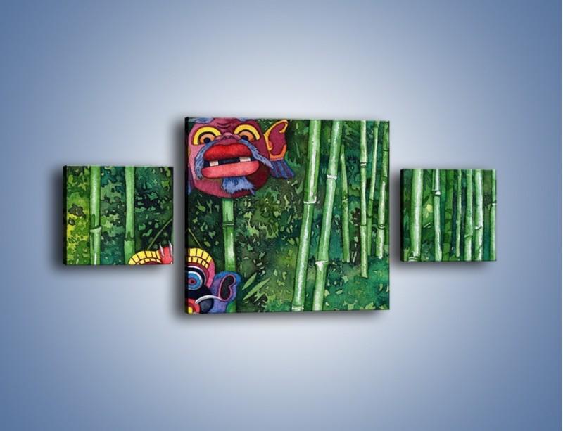 Obraz na płótnie – Maski dzikiego plemienia – trzyczęściowy GR051W4