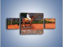 Obraz na płótnie – Arabski szejk na koniu – trzyczęściowy GR052W4