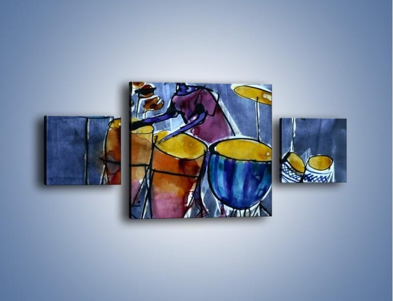 Obraz na płótnie – Gorące rytmy wybite na bębnach – trzyczęściowy GR070W4