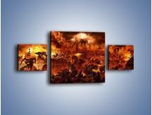 Obraz na płótnie – Bitwa z demonami – trzyczęściowy GR137W4