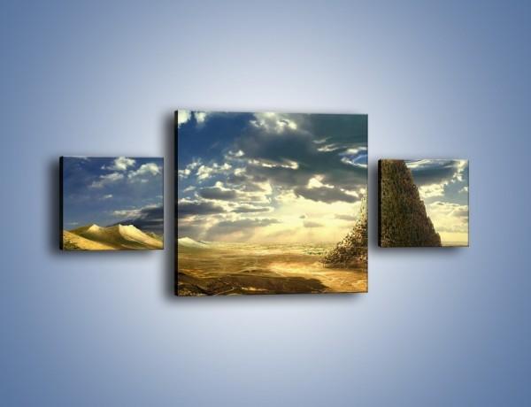 Obraz na płótnie – Przez górę aż do chmur – trzyczęściowy GR139W4