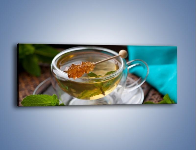 Obraz na płótnie – Oczyszczająca zielona herbata – jednoczęściowy panoramiczny JN104
