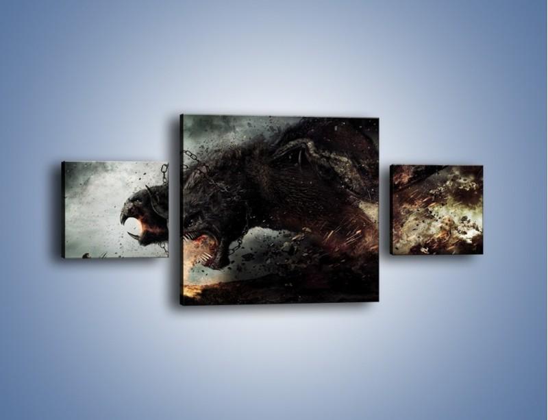 Obraz na płótnie – Groźny podmuch potworów – trzyczęściowy GR174W4