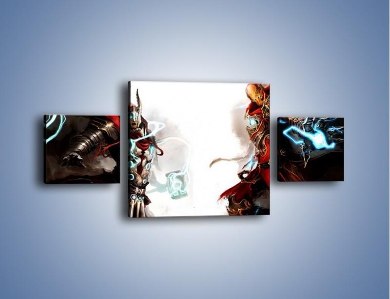 Obraz na płótnie – Walka z potężną siłą – trzyczęściowy GR207W4