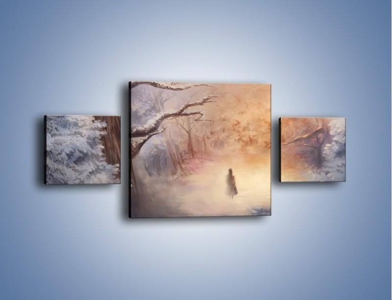 Obraz na płótnie – Samotnie w otchłań – trzyczęściowy GR241W4