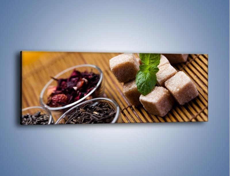 Obraz na płótnie – Ususzone bogactwa natury do herbaty – jednoczęściowy panoramiczny JN105
