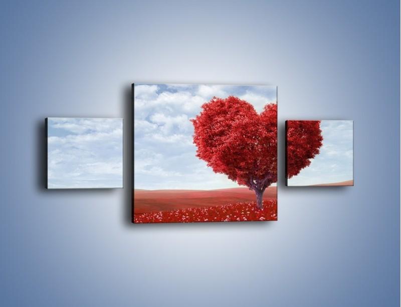 Obraz na płótnie – Polaną w stronę miłości – trzyczęściowy GR249W4