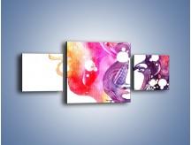 Obraz na płótnie – Barwy w otoczeniu kobiety – trzyczęściowy GR296W4