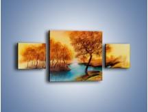 Obraz na płótnie – Drzewa nad samą wodą – trzyczęściowy GR352W4