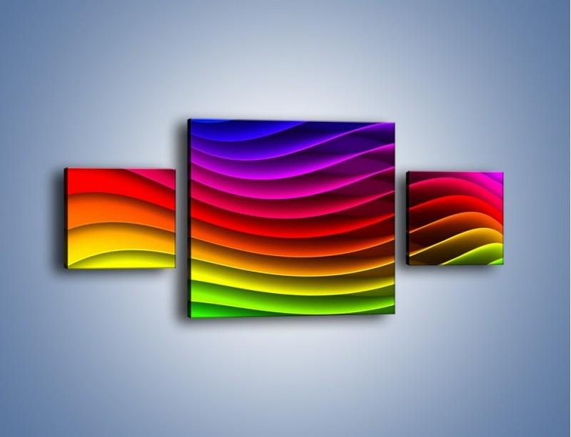 Obraz na płótnie – Falą w kolorze – trzyczęściowy GR393W4