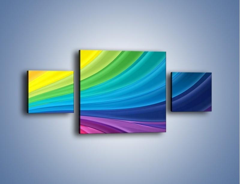 Obraz na płótnie – Zachowane kolory tęczy – trzyczęściowy GR424W4
