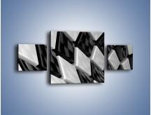 Obraz na płótnie – Czarne czy białe – trzyczęściowy GR425W4
