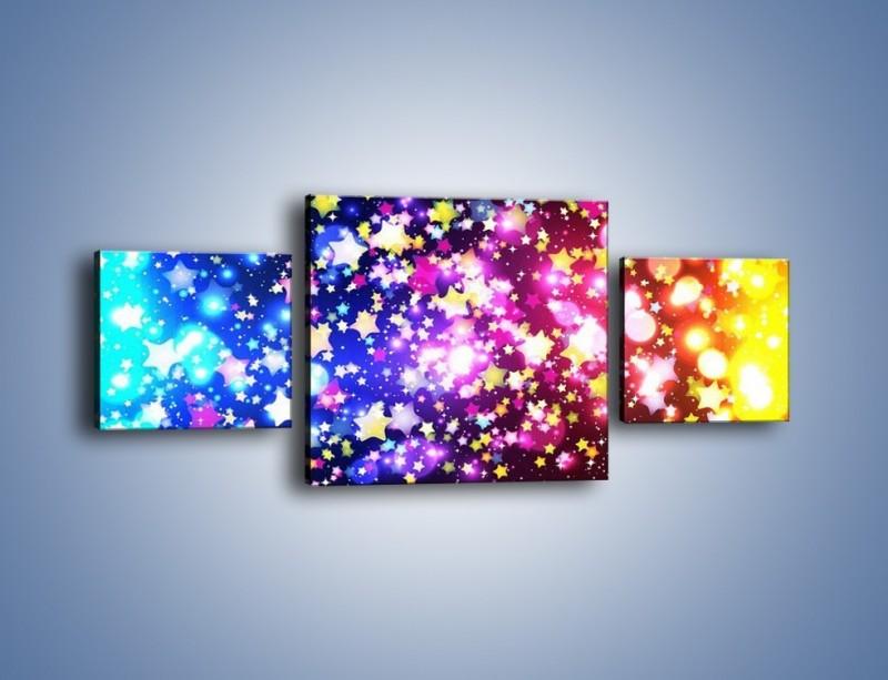 Obraz na płótnie – Kolory widziane nocą – trzyczęściowy GR432W4