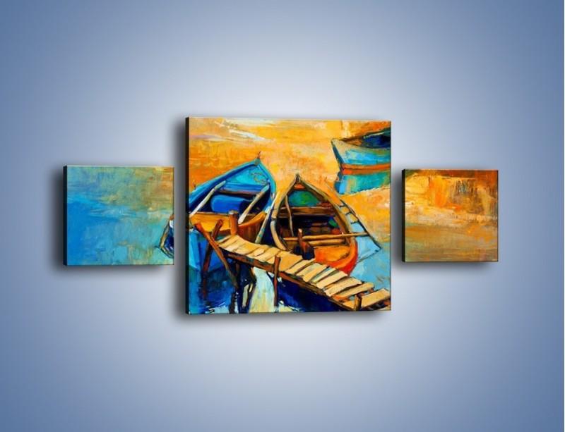 Obraz na płótnie – Bezpośrednio do łódki – trzyczęściowy GR439W4