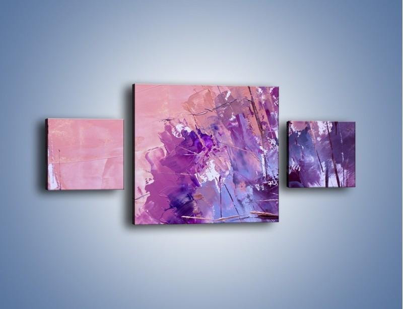 Obraz na płótnie – Mocna barwa fioletu – trzyczęściowy GR472W4