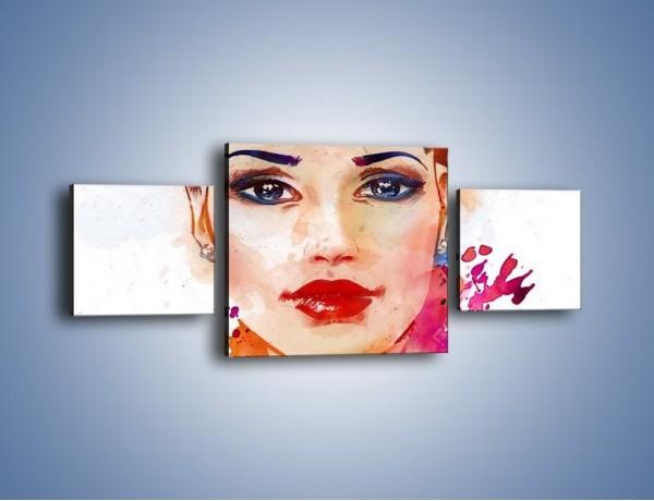 Obraz na płótnie – Piękna kobieta w kolorze – trzyczęściowy GR499W4