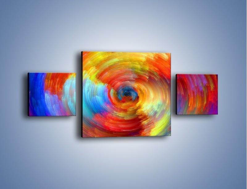 Obraz na płótnie – Kolorowy wir – trzyczęściowy GR502W4