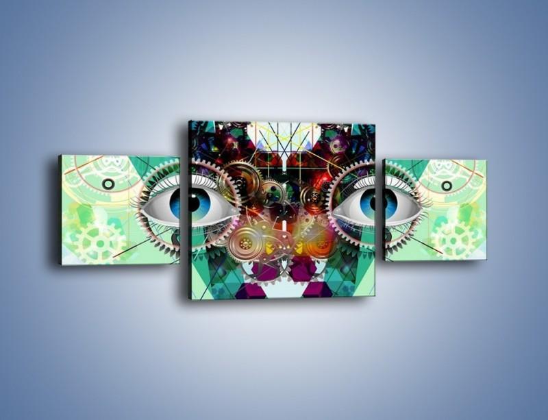 Obraz na płótnie – Mechanicznie otwarte oczy – trzyczęściowy GR504W4