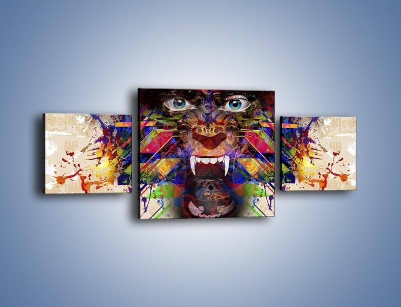 Obraz na płótnie – Groźny mimo kolorów – trzyczęściowy GR515W4