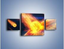 Obraz na płótnie – Atak kula ognia – trzyczęściowy GR532W4