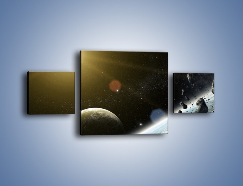 Obraz na płótnie – Dotrzeć między planety – trzyczęściowy GR534W4