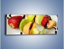 Obraz na płótnie – Czekoladowo-owocowe szaszłyki – jednoczęściowy panoramiczny JN112