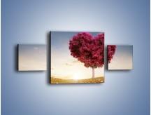 Obraz na płótnie – Drzewo pełne miłości – trzyczęściowy GR537W4