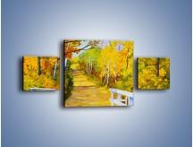Obraz na płótnie – Alejką w słoneczna jesień – trzyczęściowy GR540W4