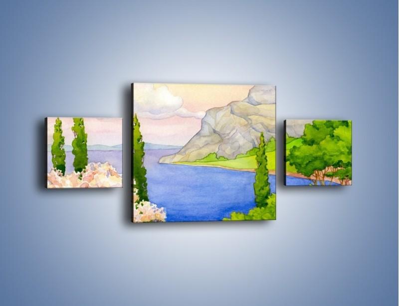Obraz na płótnie – Krajobraz jak z pocztówki – trzyczęściowy GR541W4