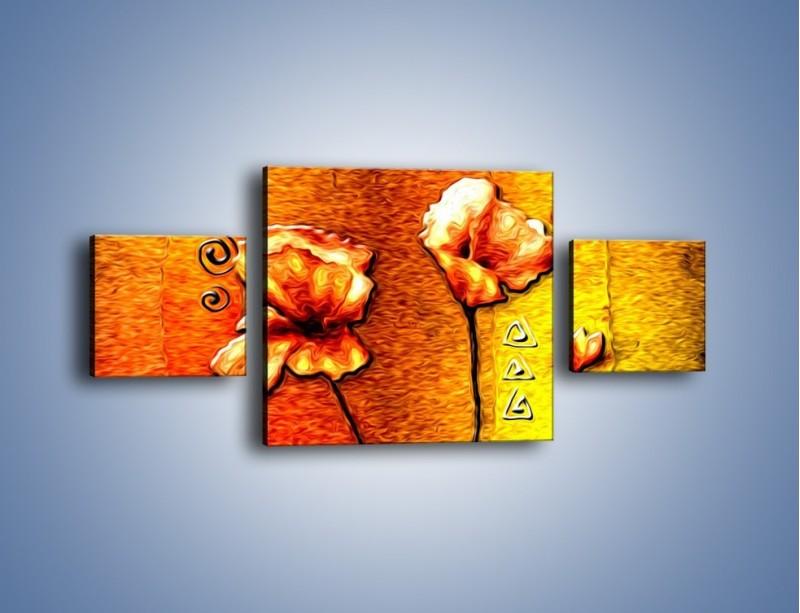 Obraz na płótnie – Maki z dodatkami – trzyczęściowy GR574W4
