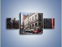 Obraz na płótnie – Codzienne życie na kubie – trzyczęściowy GR627W4