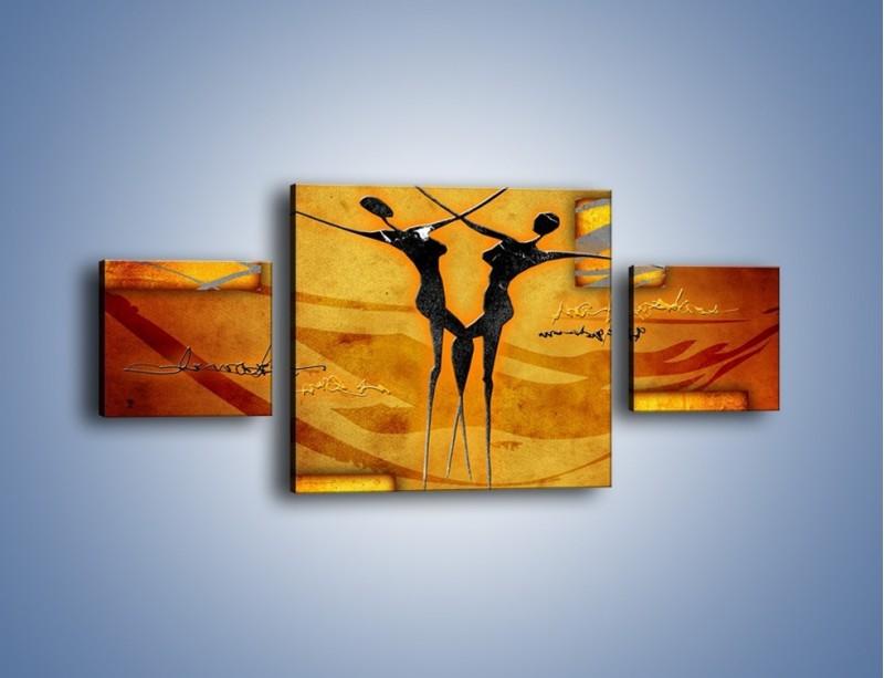 Obraz na płótnie – Dotyk w tańcu – trzyczęściowy GR633W4