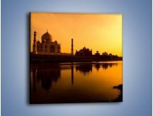 Obraz na płótnie – Taj Mahal o zachodzie słońca – jednoczęściowy kwadratowy AM075