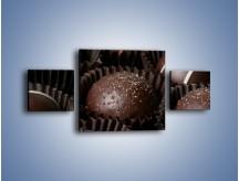 Obraz na płótnie – Czekoladowe praliny w foremkach – trzyczęściowy JN040W4