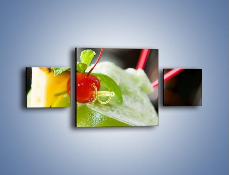Obraz na płótnie – Owocowy sorbet – trzyczęściowy JN055W4