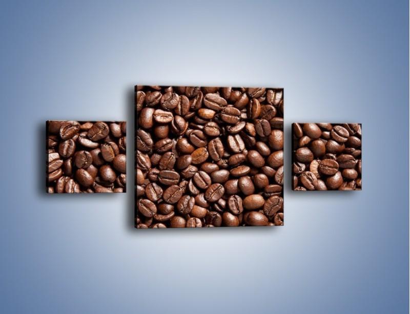 Obraz na płótnie – Ziarna świeżej kawy – trzyczęściowy JN061W4