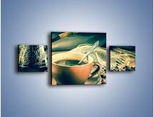 Obraz na płótnie – Czarna kawa arabica – trzyczęściowy JN064W4