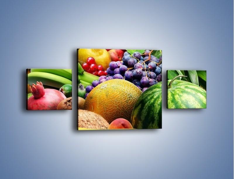 Obraz na płótnie – Stół pełen dojrzałych owoców – trzyczęściowy JN072W4