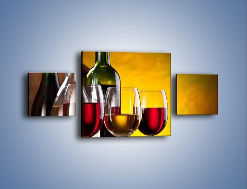 Obraz na płótnie – Wino z orzechami – trzyczęściowy JN077W4